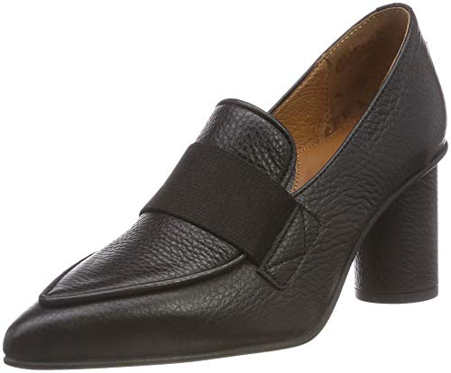 SELECTED FEMME Damen SLFALEX Leather HIGH Heel Loafer B Pumps, Schwarz Black, 40 EU -