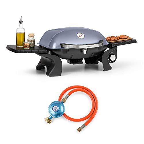 KLARSTEIN Parforce One Gasgrill - BBQ-Gasbrenner, 3,5kW, Gastyp: Butan/Propan, Verbrauch: 255 g/h, 12000 BTU, 300 °C, SNJS SnapJetIgnition System, inkl. Gasschlauch & Druckminderer, grau