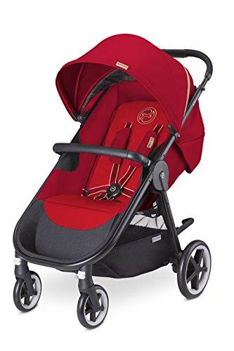 Cybex Agis M-Air 4 - Silla de paseo (desde el nacimiento hasta 17 kg), color Hot & spicy