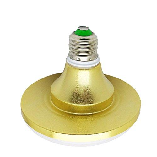 ZWL Ampoule Led, E27 Vis Bouche Lumières OVNI Éclairage Maison Haute Énergie Économiseur d'énergie Lampe Extérieure À L'Eau Factory Source de lumière Supermarché intérieur Lampe unique Lumière jaune chaude Lumière blanche , Ajoutez de la lumière à votre vie ( Couleur : Lumière blanche-Or-12W )