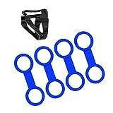 MagiDeal 4 Stück Schnorchelhalter Doppelring Silikon Schnorchelhalter Ringe + Schnorchelhalter Tauchen Schnorcheln Silikon Schnorchelhalterung Clip