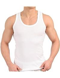 MT 6er Pack Herren Unterhemd Classic in FEINRIPP oder DOPPELRIPP Tank Top weiß Muskel Shirt Trägershirt aus Baumwolle von celodoro