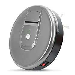 Robot Vacuum Cleaner Sweeper Cleaning Automatic Floor Compact Carpet Smart Brush Robotic Intelligent Cliff Sensor,grey