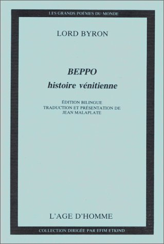 Beppo, histoire vénitienne par Lord Byron