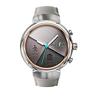 Asus Zenwatch 3 WI503Q-2LBGE0001 (3,5cm (1,39 Zoll), Amoled, 400 x 400 Qualcomm Snapdragon Wear 2100, 512MB, 4GB, Android Wear Lederarmband) beige