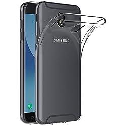 AICEK Coque Samsung Galaxy J7 2017, Transparente Silicone Coque pour Samsung J7 2017 Housse Silicone Etui Case (5,5 Pouces SM-J730F)