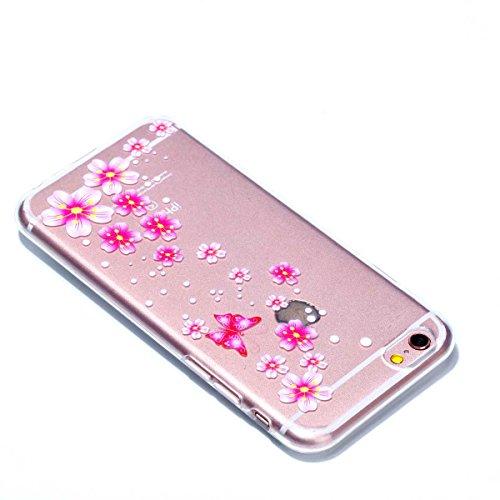 iPhone 6 Plus Hülle,iPhone 6S Plus Schutzhülle, MSK Taschen Schalen Flexible TPU Weiche Rückwärtige Schutzhülle Case Für iPhone 6 Plus & iPhone 6S Plus - elegant #F elegant #B