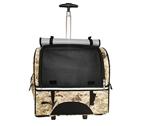 Hubulk portatile Carrier Pet Dog Cat rotolamento zaino da viaggio aereo rotella sacchetto dei bagagli (colore fan)