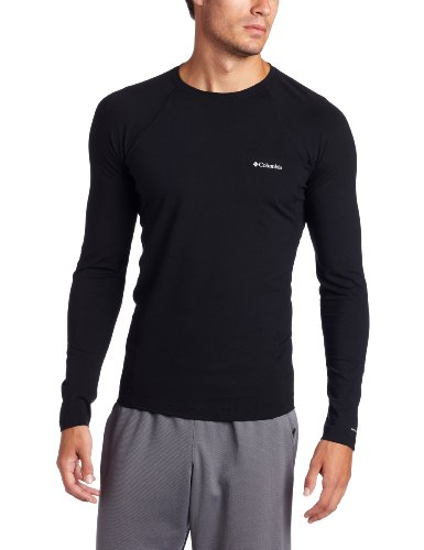 Columbia Herren Skiunterwäsche Men's Midweight Long Sleeve Top, Black, M, AM6944 (Ls Thermal Mens Shirt)
