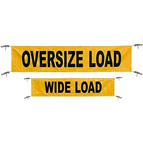 Keeper 04903 Yellow 18 x 84 Reversible Oversize/Wide Load Banner with Grommets by Keeper