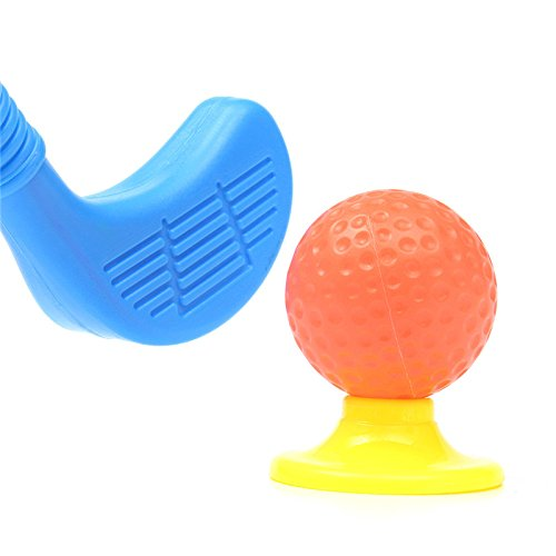 ChenXi Shop Set of Plastic 3 Golf Putter Club 2 Balls 2 Putting Cup 2 Flags 2 tees Kids Toy