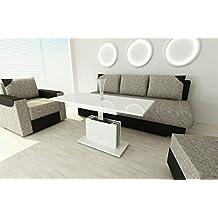 Couchtisch Ausziehbar Hhenverstellbar Wohnzimmertisch Weiss Hochglanz Tisch
