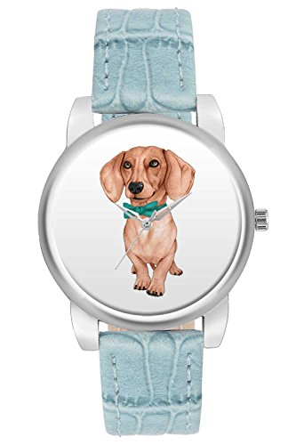 Women's Watch, BigOwl Cute Dog Illustration Designer Analog Wrist Watch For Women - Gifts for her dials
