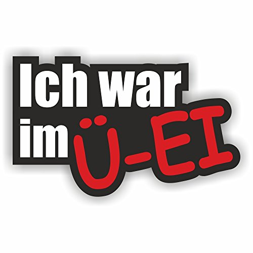 folien-zentrum Ich war im Ü-Ei Shocker Hand Auto Aufkleber JDM Tuning OEM Dub Decal Stickerbomb Bombing Fun Oldschool
