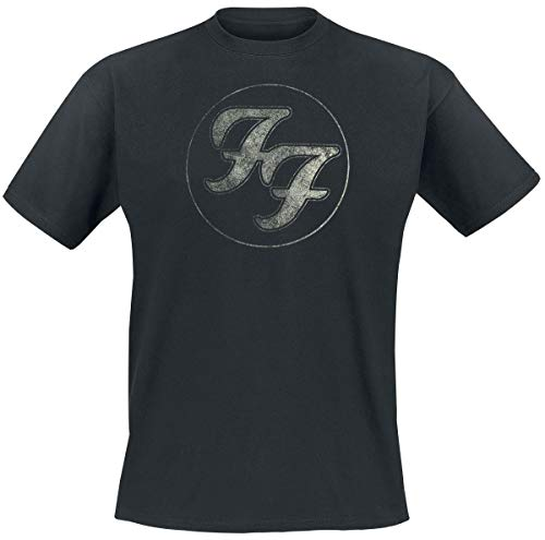 Foo fighters logo in circle t-shirt nero m