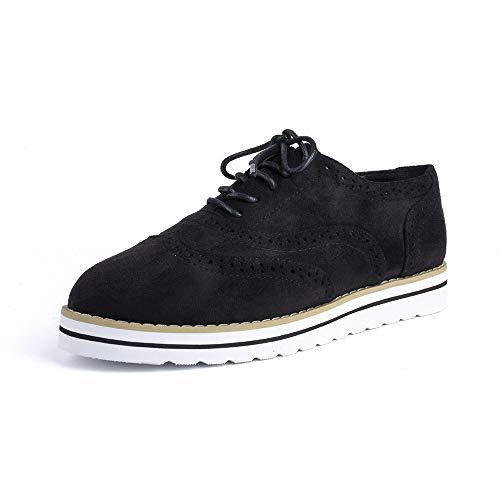 Zapatos Cordones Mujer Planos Brogue Derby Oxford