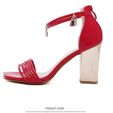 LvYuan Da donna-Sandali-Formale-Altro-Quadrato-PU (Poliuretano)-Nero Rosa Rosso Red