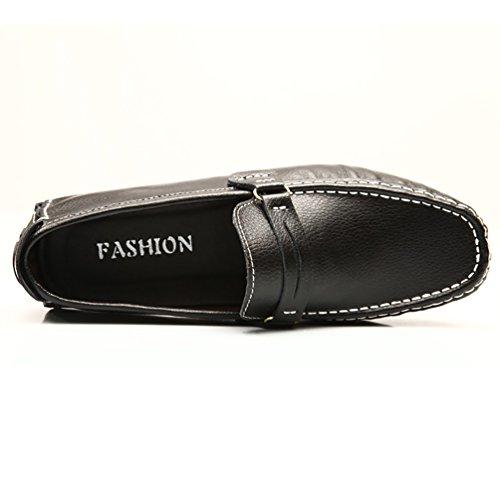 Baymate Antidérapant Mocassines Homme Plats Loafers Chaussures de Conduite Noir