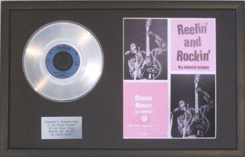 UK Music Awards Chuck Berry-Platinum Disc & Lied Sheet-Reelin & Rockin Platinum-berry