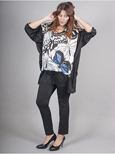 Vêtement Femme Grande Taille Tunique Sublimation Chat Multicolore