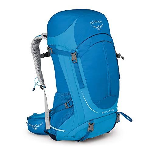 Osprey Sirrus 36 belüfteter Wanderrucksack für Frauen - Summit Blue (WS/WM)