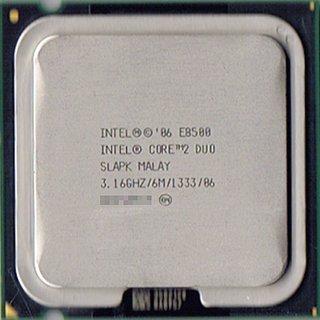 Intel Core 2 Duo Processor E8500 (6M Cache, 3.16 GHz, 1333 MHz FSB) 6MB L2 Caja - Procesador (3.16 GHz, 1333 MHz FSB), Intel Core2 Duo, 3,16 GHz, LGA 775 (Socket T), 45 nm, E8500, 64 bits)