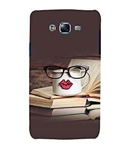 printtech Kiss Cup Library Back Case Cover for Samsung Galaxy A3 / Samsung Galaxy A3 A300F