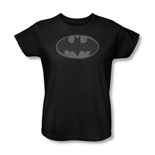 Batman-Maglietta da donna, modello slip In maglia metallica, colore: nero Nero  nero