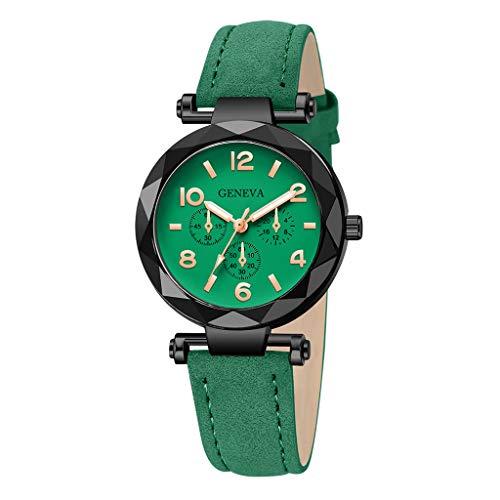 Dorical Armbanduhr für Damen Analog Quarz mit Kunstlederband,Damenuhr, Oktoberfest Vintage Muster Analog Quarzuhr Retro Uhr Ausverkauf(E)