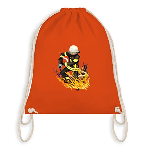 Feuerwehr - Cooler Feuerwehrmann - Unisize - Orange - WM110 - Turnbeutel I Gym Bag