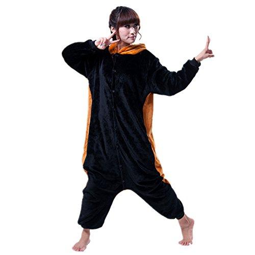 Missley Einhorn Pyjamas Kostüm Overall Tier Nachtwäsche Erwachsene Unisex Cosplay (M, Little Black ()