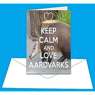 Keep Calm and Love Aardvarks - A5 Greetings Card