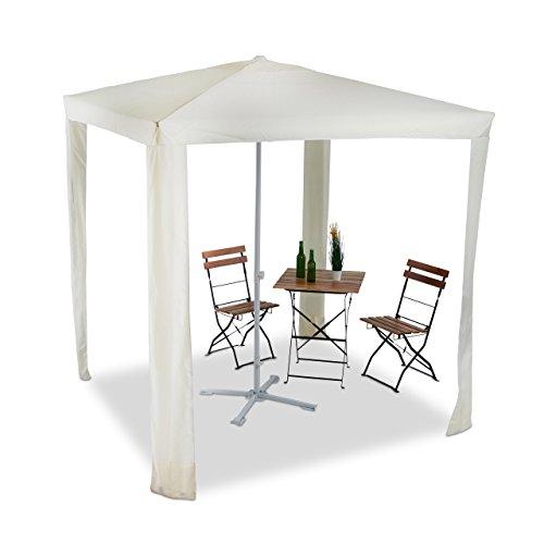 Relaxdays Sonnenschirm quadratisch, 2 in 1 Schattenspender, Wasserabweisender Pavillon 2x2m,...
