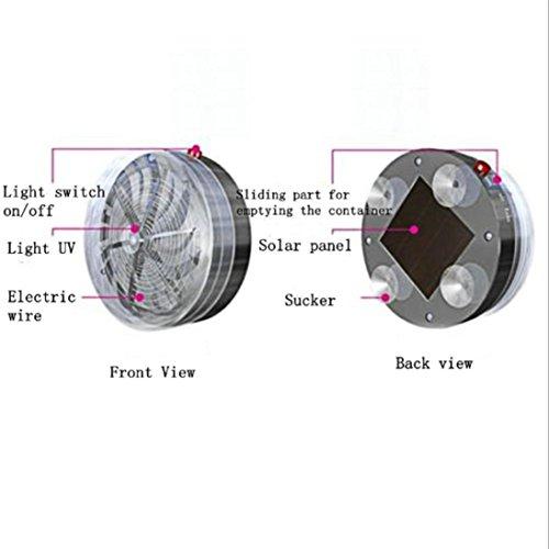 Diadia cajas de juguetes solares para matar mosquitos, diadia solar Buzz lámpara UV mosca insectos insectos mosquitos matar zapper killer repelente de mosquitos