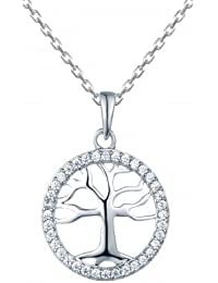 Tree Of Life In A Circle Necklace, Necklace For Women- By Ornate Jewels
