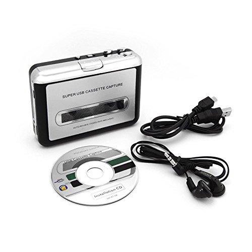 Incutex - Convertitore da cassette a MP3 e riproduttore con cavo USB per PC