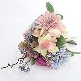 ZTTLOL Künstliche Gefälschte Blumensträuße Für Hochzeit Blumen Gerberas Handsichere Home Office Dekorationen