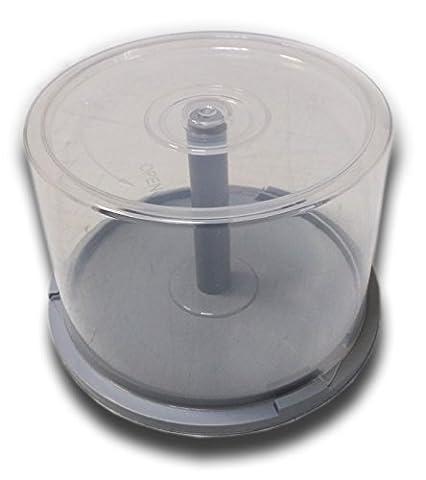 Cloche vide pour 50 CD/DVD/disques mémoires/BluRay Gris gris