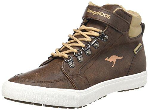 KangaROOS Unisex-Erwachsene Nery Hohe Sneaker, Braun (Saddle Brown/Beige), 42 EU