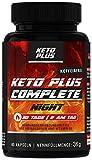 Keto Plus NIGHT, Ohne Koffein, Complete Kapseln für den Fettstoffwechsel, 60 Kapseln