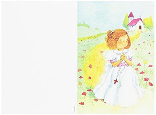 Mopec X3490.2 - Portafoto de Primera Comunión de una niña con un rosario, pack de 25 unidades