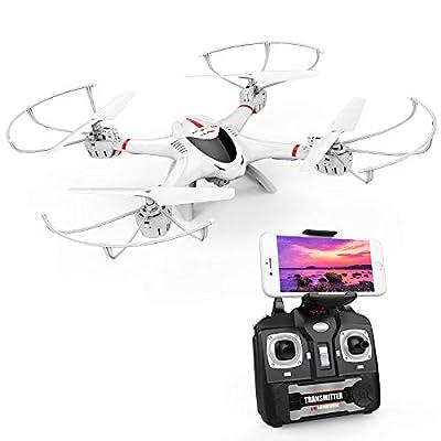 DBPOWER MJX X400W FPV Drohne mit WLAN Kamera Zurückkehrfunktion, Quadcopter mit Kopflosmodus für Kinder und Anfänger von MJX