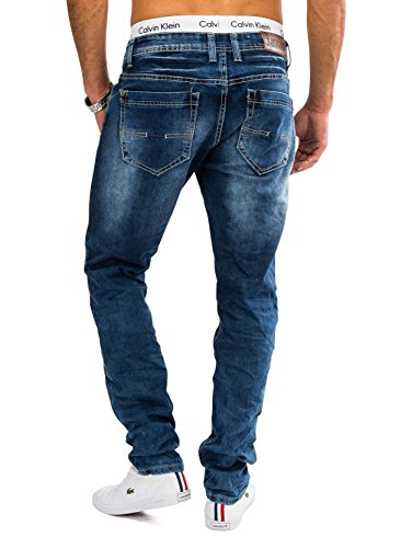 Hommes Stone Washed Jeans AARON Nr.1621 Slim Fit (Tapered Leg) Blau