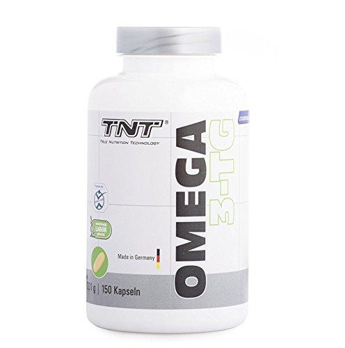 TNT True Nutrition Technology Omega 3 Kapseln Hochdosiert - Reines Fischöl mit EPA & DHA ohne Zusätze - Omega 3 Fettsäuren / 150 Caps - Bcaa 500 Mg 120 Kapseln