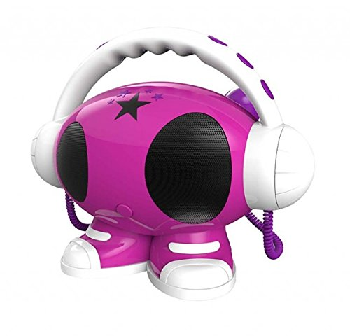 BigBen  MP3 Karaoke Roboter, 1024 MB, Lila/Rosa/Weiss