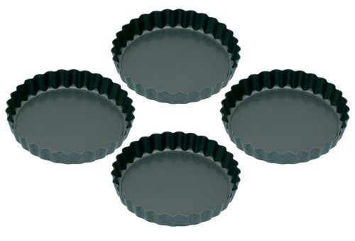 Kitchen Craft Lot de 4 mini moules à tarte dentelés