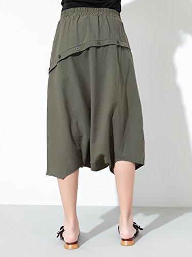 Damen Sommer Leinen-Baumwolle 3 4 Pluderhose Marlene Hose Elastischer Bund  Loose Fit Streetwear 18ecb8277c