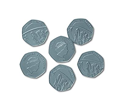 Learning Resources Fifty Pence Coins, Set of 100 by Learning Resources
