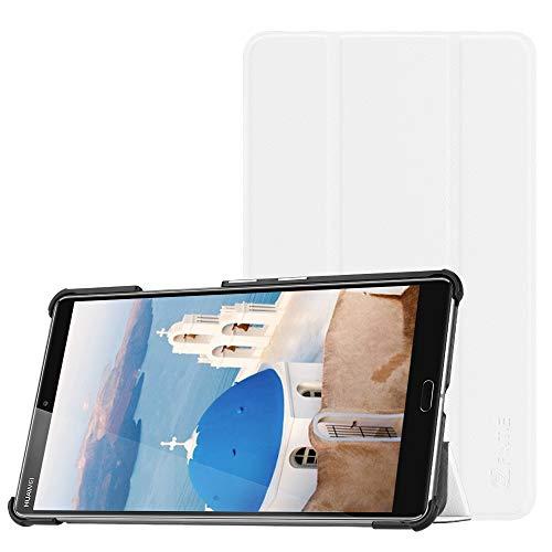 Fintie Hülle Case für Huawei Mediapad M5 8 Tablet - Ultra Dünn Superleicht SlimShell Ständer Case Cover Schutzhülle Auto Sleep/Wake Funktion für Huawei MediaPad M5 21,34 cm (8,4 Zoll), Weiß