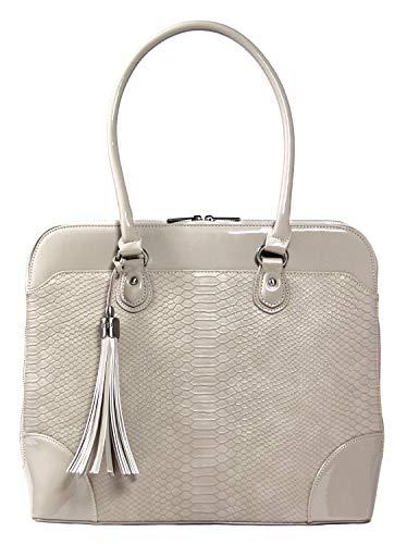 Handgefertigte Designer-handtaschen (BFB Laptop Tragetaschen für Frauen-33cm Laptop-Umhängetasche-Designer Handgefertigte Handtasche-Qualität, DASS 's Made to Last beige cremefarben)